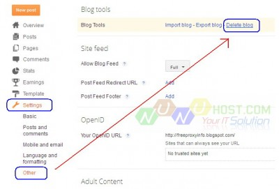 Cara Hapus Blog di Blogspot – Blogger