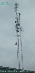 Tower Antena di PPTIK -UGM (1 hari senbelum kejadian)
