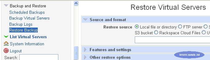 Gambar 3. Restore dari file backup